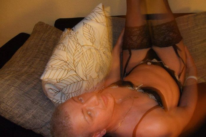 A closet sissy peeks out
