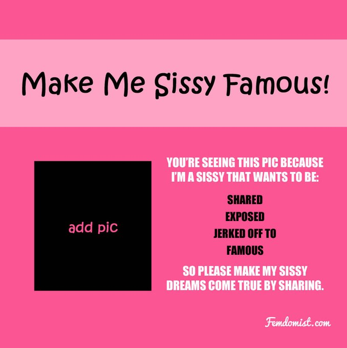 Sissy Famous Sign Template