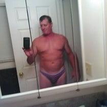 Wearing his new panties