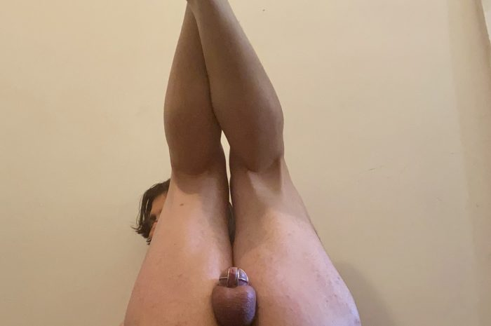 Sissy can't stop filling his holes