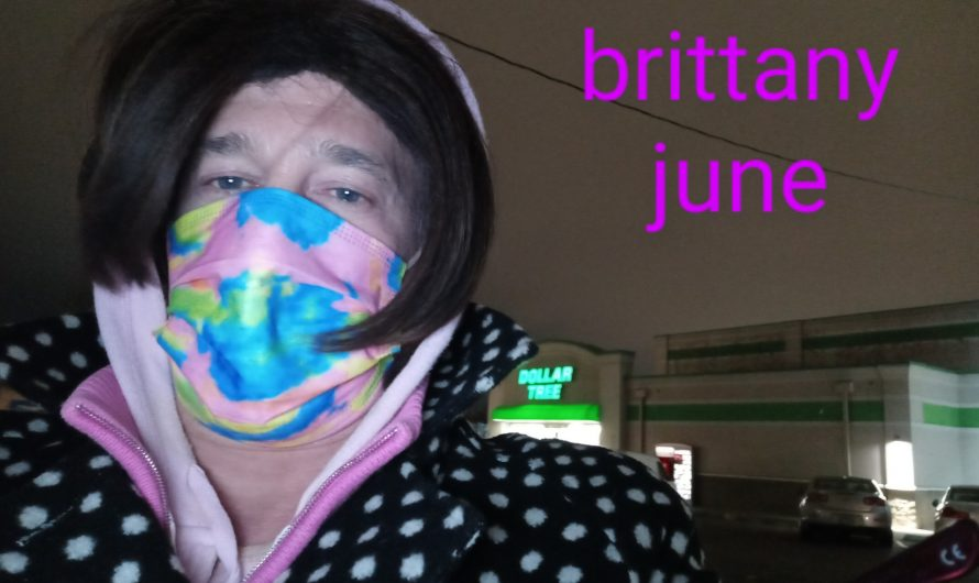 Sissy Brittany out at the Dollar Tree