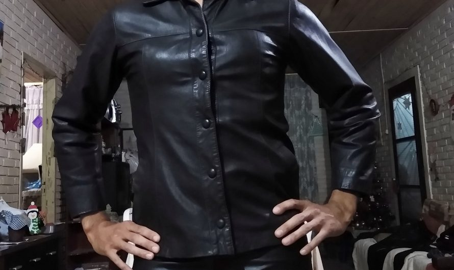 Sissy exposed in leather