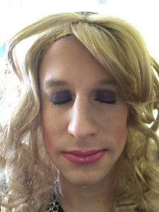 Feminine sissy loves to look pretty with makeup