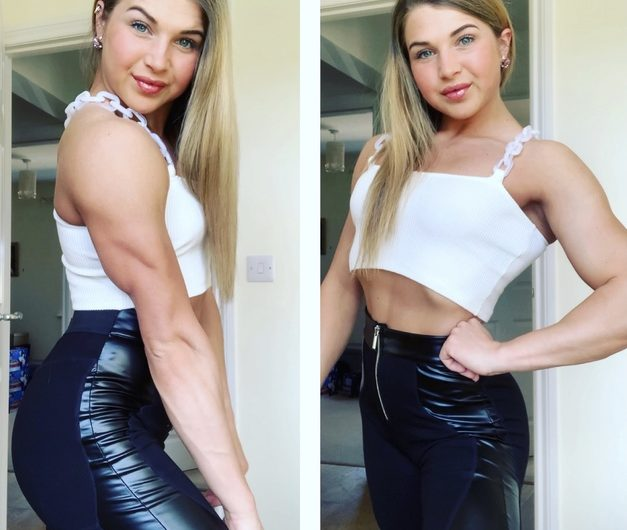 British muscle goddess whips submissive men into shape